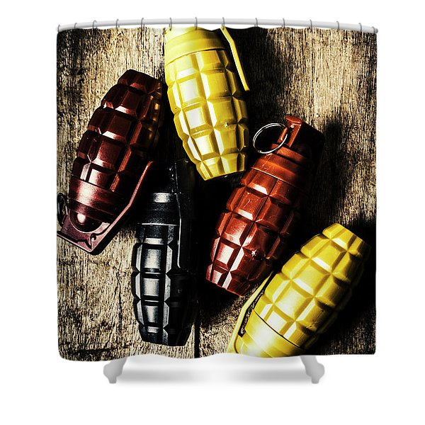 Colourful Munitions  Shower Curtain