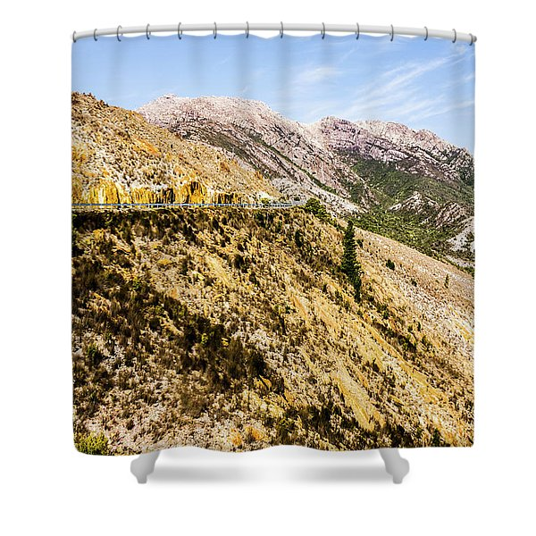Colourful Stony Highlands Shower Curtain