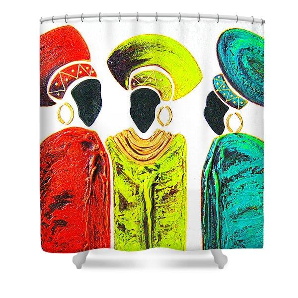 Colourful Trio - Original Artwork Shower Curtain