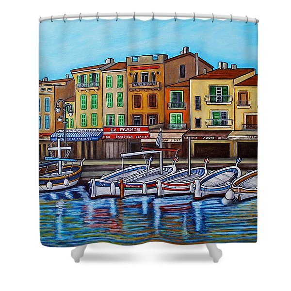 Colours Of Cassis Shower Curtain