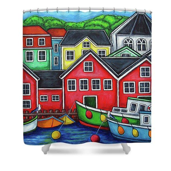 Colours Of Lunenburg Shower Curtain
