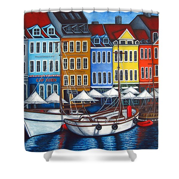 Colours Of Nyhavn Shower Curtain