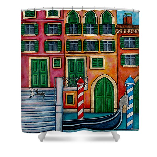 Colours Of Venice Shower Curtain