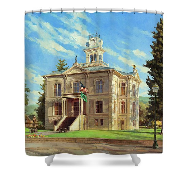 Columbia County Courthouse Shower Curtain
