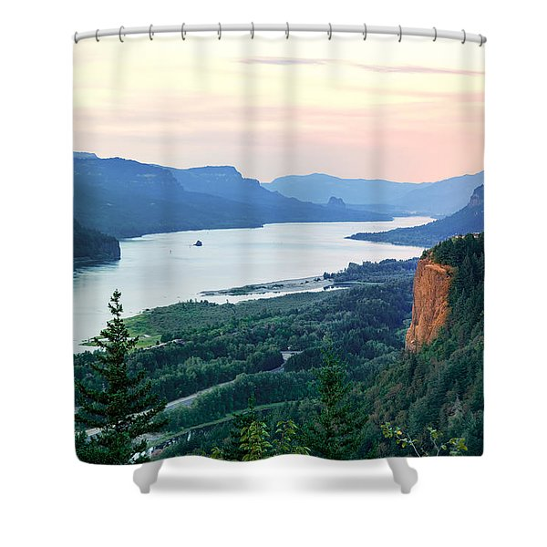 Columbia River With Vista House Shower Curtain