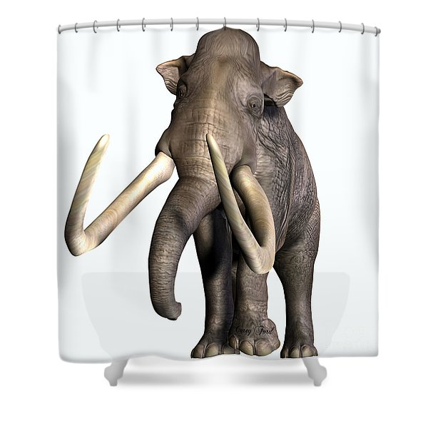 Columbian Mammoth Front Profile Shower Curtain
