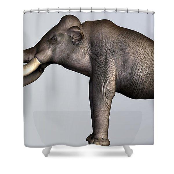 Columbian Mammoth Side Profile Shower Curtain