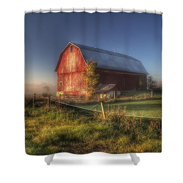 0009 - Columbiaville Red I Shower Curtain