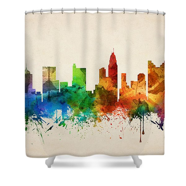 Columbus Ohio Skyline 05 Shower Curtain