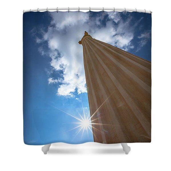 Column To Sky Shower Curtain