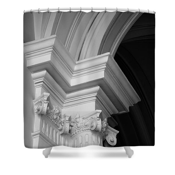 Columns At Hermitage Shower Curtain
