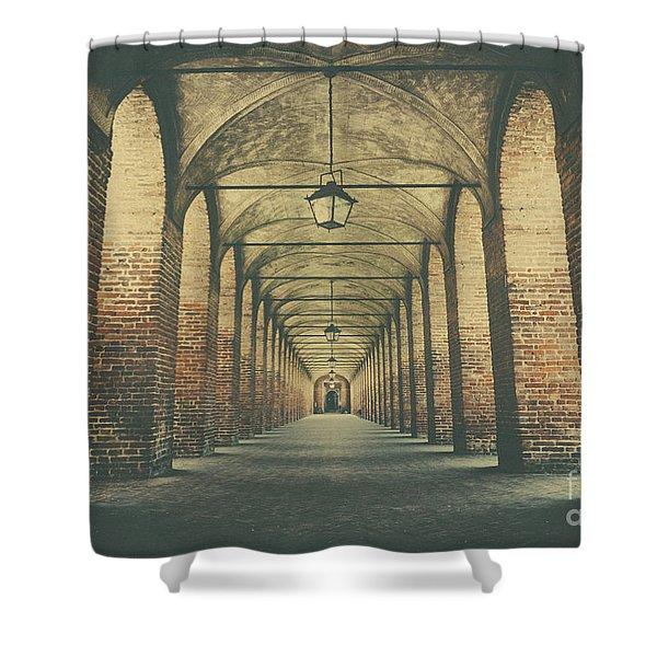 Columns In Sabbionetta, Italy Shower Curtain