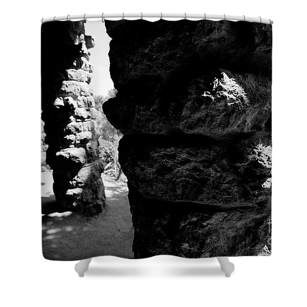Shower Curtain featuring the photograph Columns Of The Park Guell by Agusti Pardo Rossello