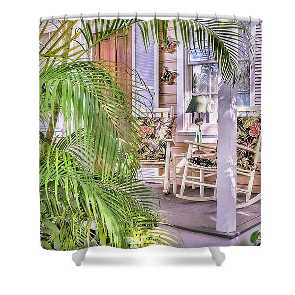 Come And Sit Awhile Shower Curtain