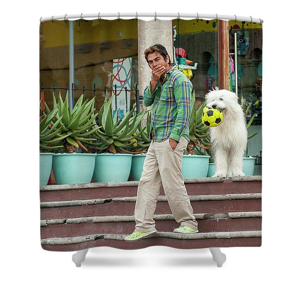Come On And Play Shower Curtain