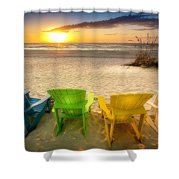Come Relax Enjoy Shower Curtain