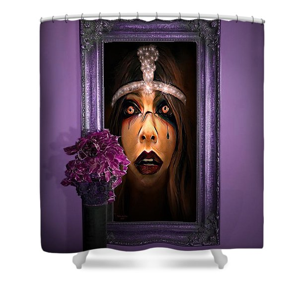 Come With Me, If You Dare Shower Curtain