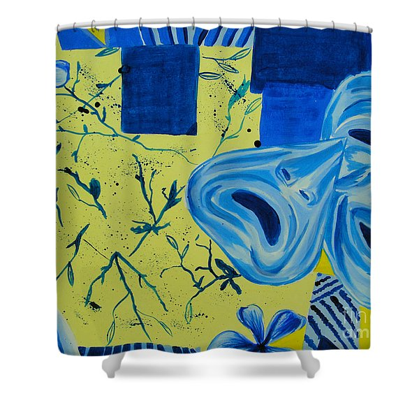 Comedy Or Tragedy Shower Curtain