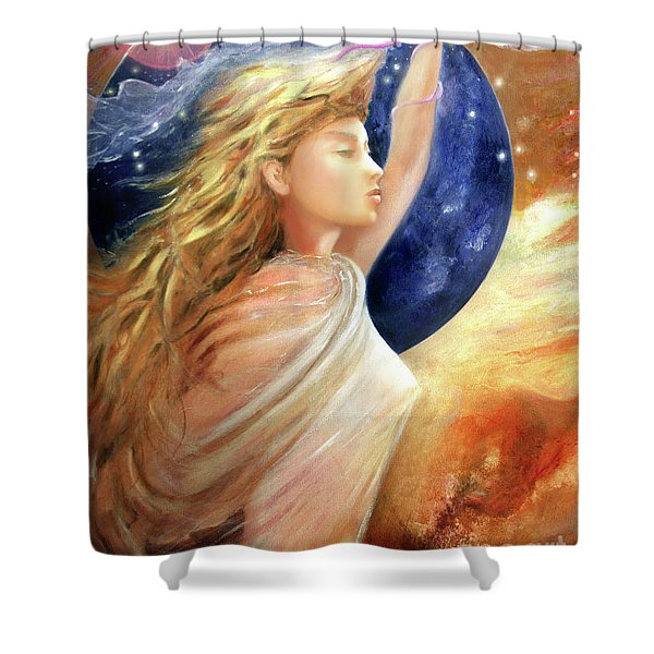 Comet Dreamer Ascend Shower Curtain