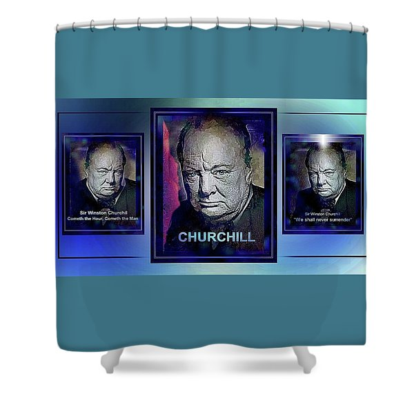 Cometh The Hour . . .  Shower Curtain