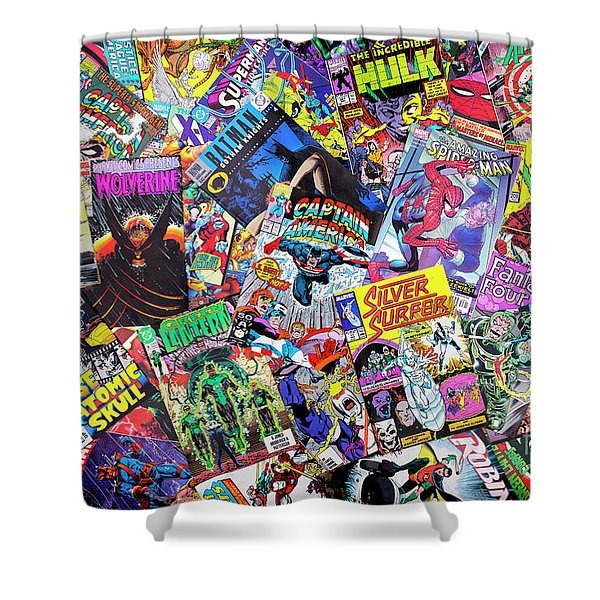 Comic Books Shower Curtain