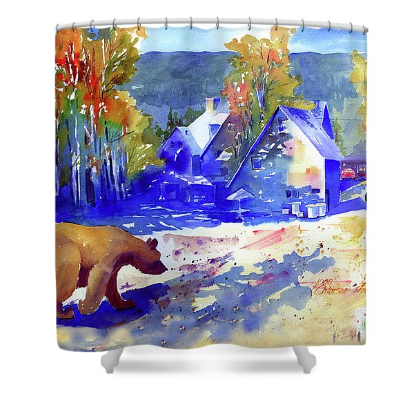 Coming For Dinner At Rainbow Lodge Shower Curtain