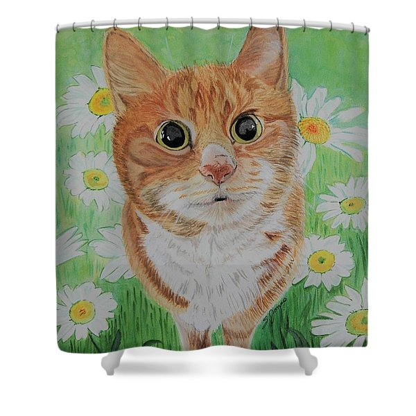 Coming Up Daisies Shower Curtain