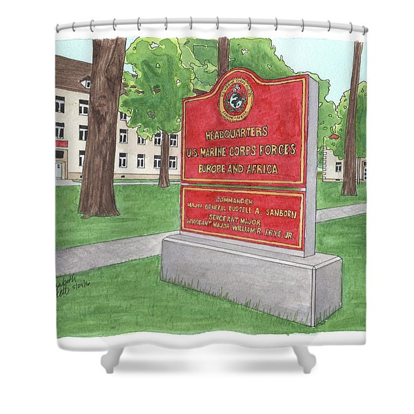 Commander Major General Russell A. Sanborn - Marforeuraf Shower Curtain