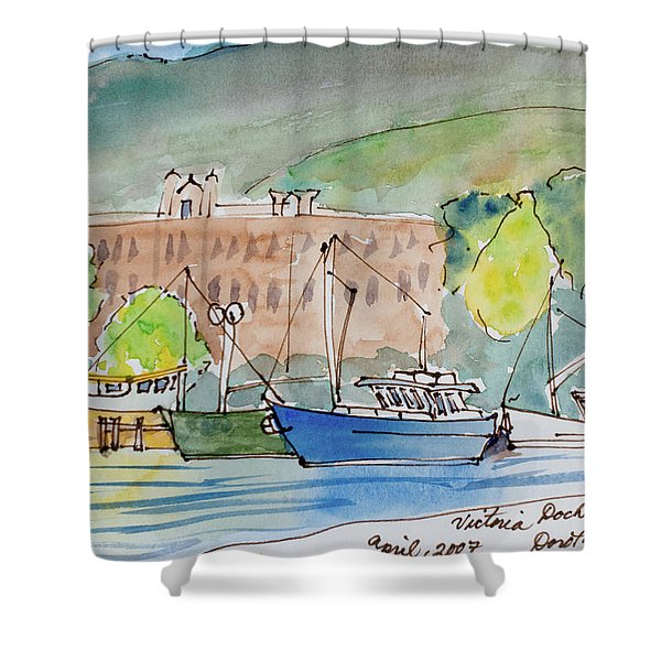 Fishing Boats In Hobart's Victoria Dock Shower Curtain