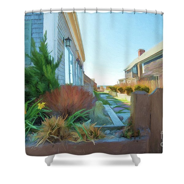 Commercial St. #4 Shower Curtain