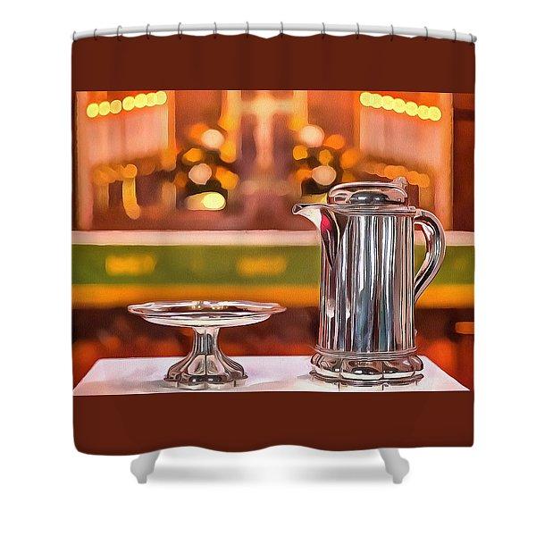 Communion Silver 1800 Shower Curtain