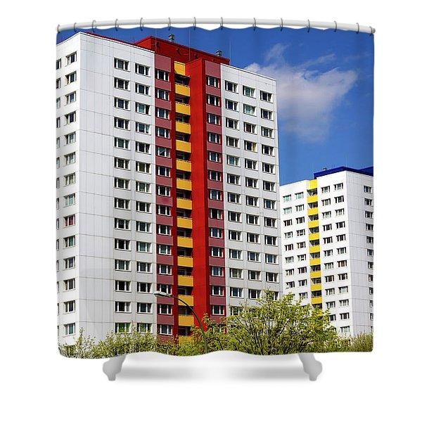 Communist Era Architecture East Berlin Shower Curtain