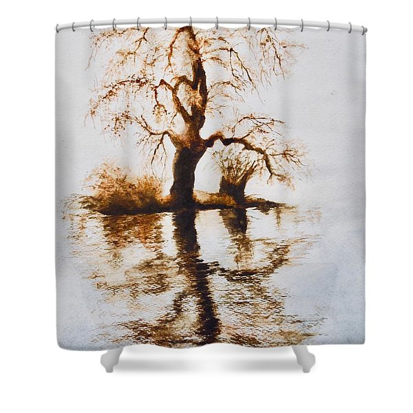Como Lake Reflections Shower Curtain