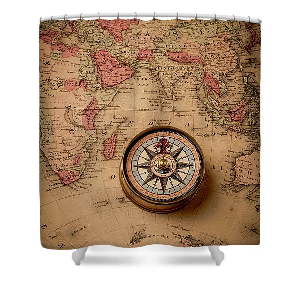 Compass And Europe Shower Curtain