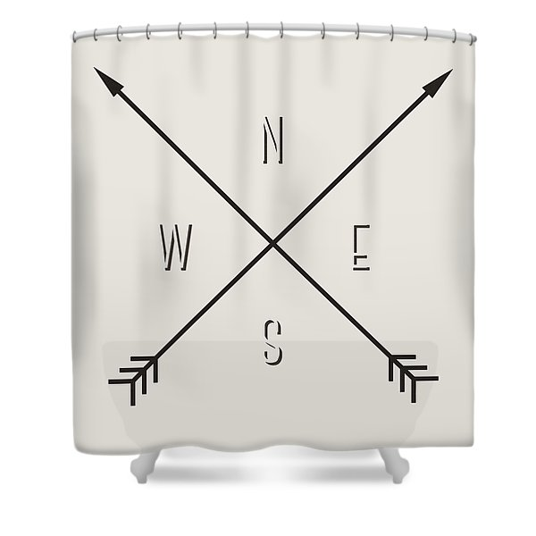 Compass Shower Curtain