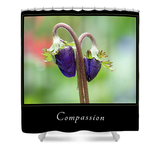 Shower Curtain featuring the photograph Compassion 1 by Mary Jo Allen