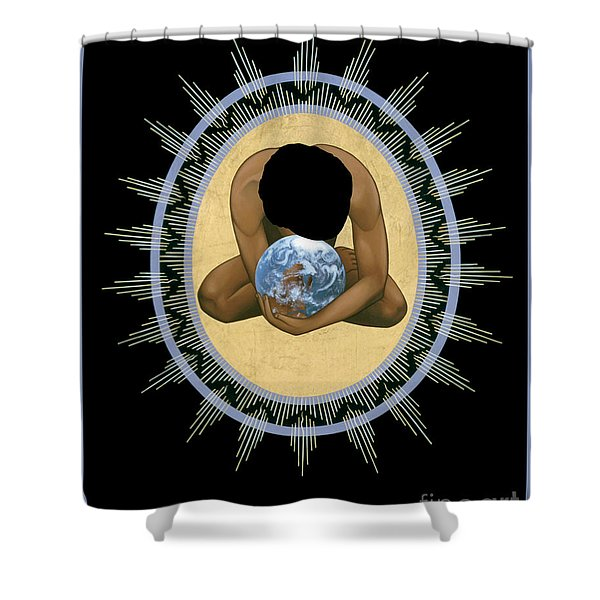 Compassion Mandala - Rlcmm Shower Curtain