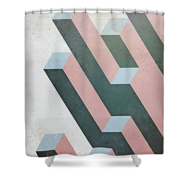 Complex Geometry Shower Curtain