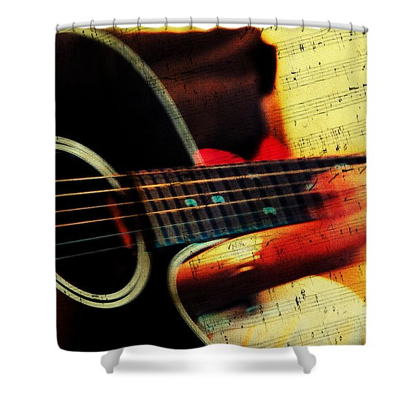 Composing Hallelujah. Music From The Heart  Shower Curtain