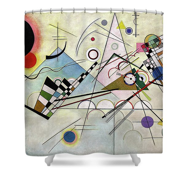 Composition 8 Shower Curtain