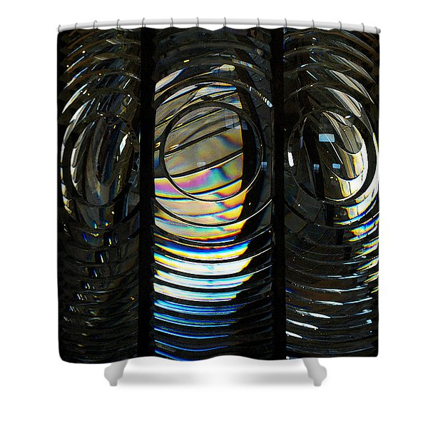 Concentric Glass Prisms - Water Color Shower Curtain