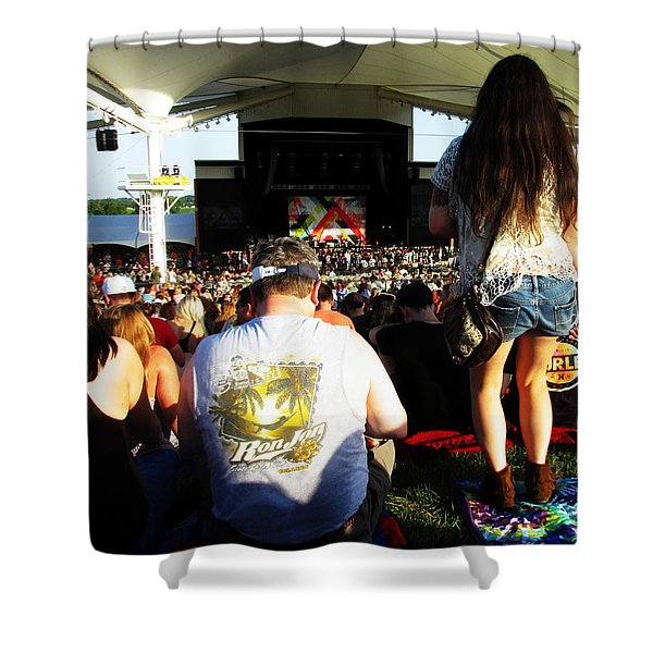 Concert Crowd Shower Curtain