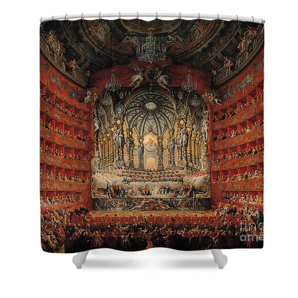 Concert Given By Cardinal De La Rochefoucauld At The Argentina Theatre In Rome Shower Curtain