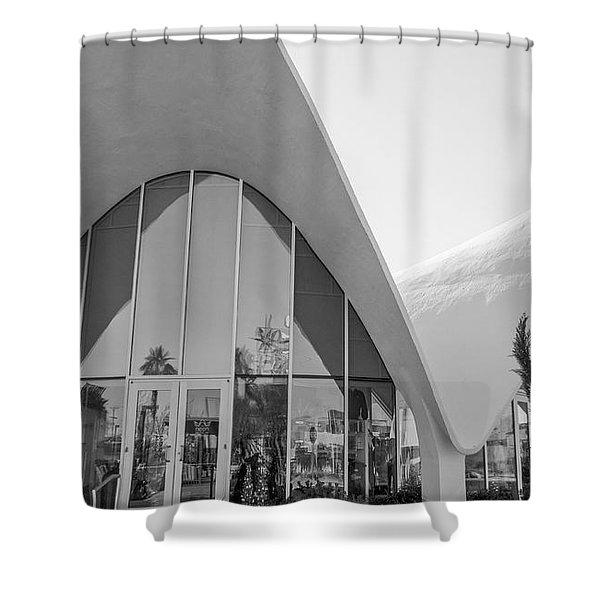 Concha Motel--neon Museum Shower Curtain