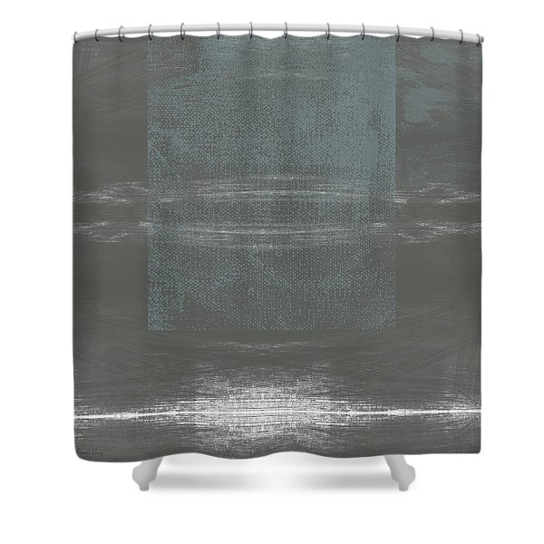Concrete 2- Contemporary Abstract Art By Linda Woods Shower Curtain