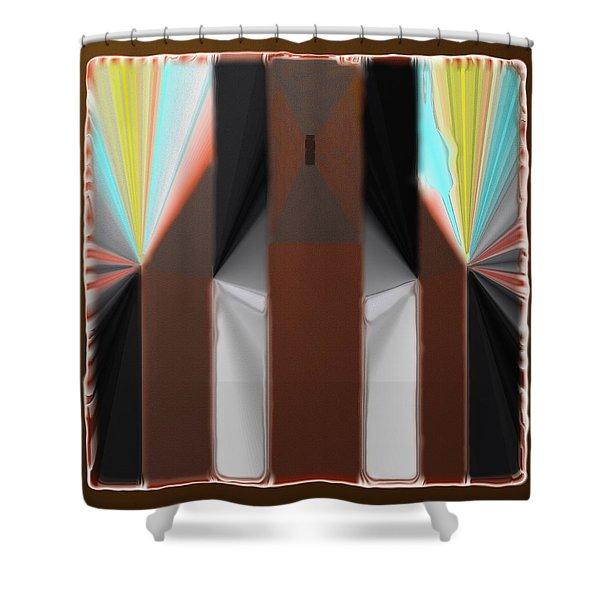 Cones Of Light Shower Curtain
