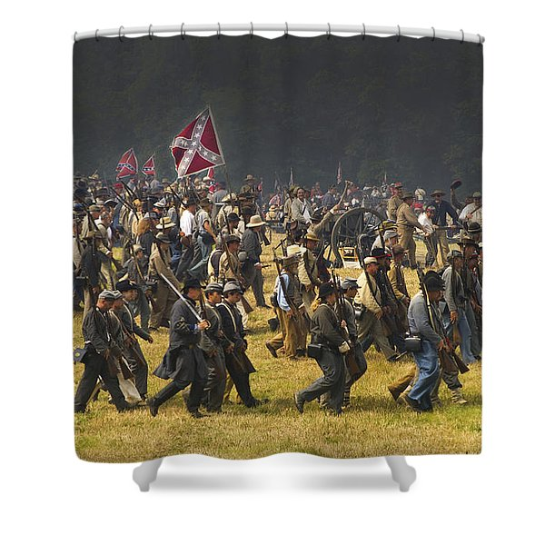 Confederate Charge At Gettysburg Shower Curtain