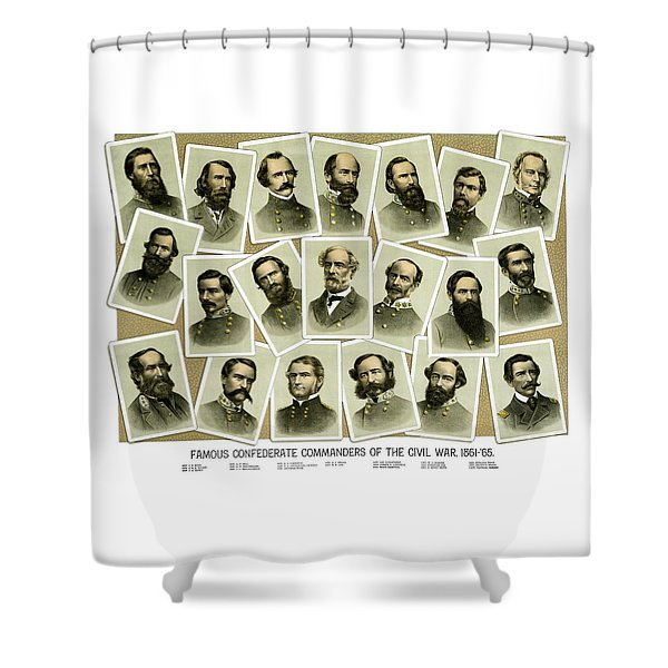 Confederate Commanders Of The Civil War Shower Curtain