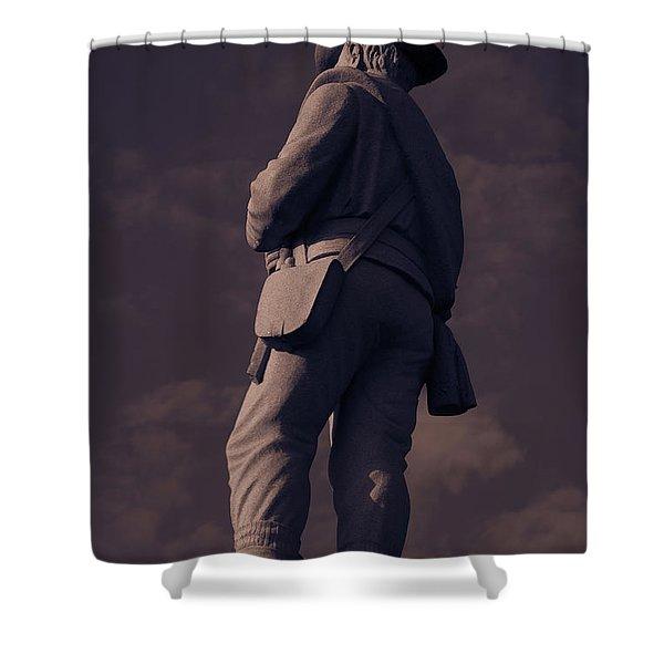 Confederate Statue Shower Curtain