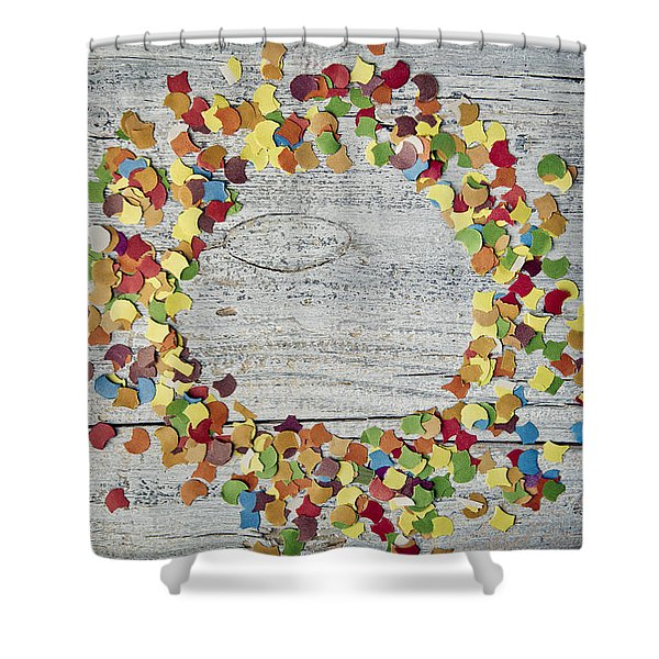 Confetti Circle Shower Curtain
